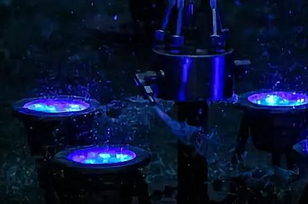Подводные светильники фонтана